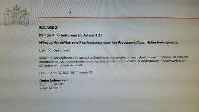 asbest certificatieschema's
