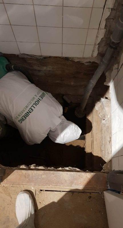 asbesthoudende buis verwijderen